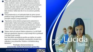 Lucida Stella poklanja petorici sretnih maturanata15% popusta na tečaj priprema za DM